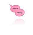 speak bubble with premium quality vector image