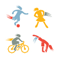 Active girls fitness sports set 3 vector image vector image