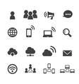 communication and network icon vector image vector image