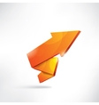 Arrow on abstract background vector image