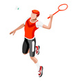 Badminton 2016 Sports 3D Isometric vector image
