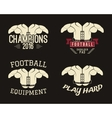 Collection of shoulder pads labels stamps logos vector image