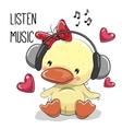 Cute cartoon Duckling Girl vector image