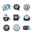 Email internet cafe wifi icons set vector image