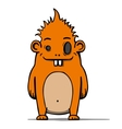 Funny cartoon hairy monster vector image