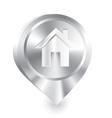Home icon metal drop pin vector image