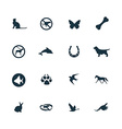 Set of animals pets icons vector image