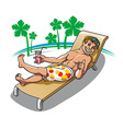 summer relaxing vector image
