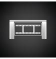 Cinema theater auditorium icon vector image