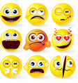 funky smilies new vector image vector image