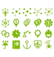 Business links and industry icon set vector image