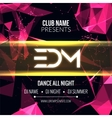 Modern EDM Music Party Template Dance Party Flyer vector image