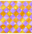 Abstract gold and lilac seamless plaid vector image