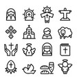 thanksgiving easter god christian icon set in vector image