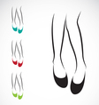 Woman legs with shoes vector image