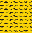 yellow pattern with retro mustache for design vector image