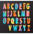 Alphabet design in colorful style vector image vector image