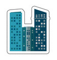 building architecture modern cityscape vector image