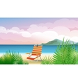 Beach vacation vector image vector image