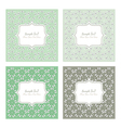 Floral pattern square backgrounds vector image