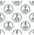 Ship anchors with chain border spattern vector image
