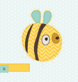 cartoon bee greeting card vector image vector image