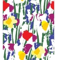 Flowers color seamless pattern wallpaper on white vector image vector image