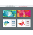 Modern business card template with faceted 3d vector image vector image