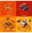 Lumberjack 2x2 Isometric Design Concept vector image