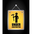 label hanging under construction isolated icon vector image