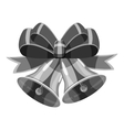 Bell with bow icon gray monochrome style vector image