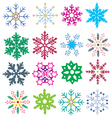 color snowflake vector image