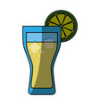 lemonade glass cold vector image
