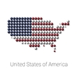 USA Map color dotted design vector image