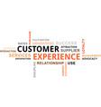 word cloud customer experience vector image