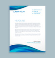 business style corporate letterhead vector image