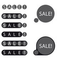 stickers sale label vector image