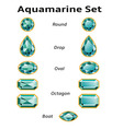 Aquamarine Set With Text vector image