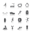 Running icons set vector image