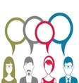 People icons with speech bubbles vector image