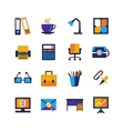Color Office Isolated Icons Set vector image vector image