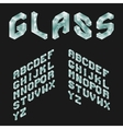 Glass Isometric Latin Alphabet 3D Geometric Font vector image vector image