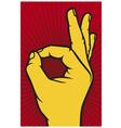 human okay hand sign vector image