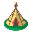 indian traditional tent icon isolated vector image