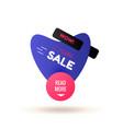 modern simple sale badge template vector image