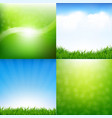 Nature set posters vector image