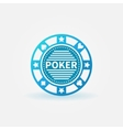 Poker chip blue icon vector image