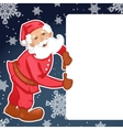 Santa Claus with Christmas greetings eps10 vector image