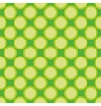 Seamless pattern green polka dots background vector image