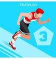 Triathlon 2016 Summer Games 3D Isometric vector image